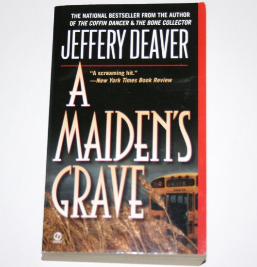 A Maiden's Grave by JEFFERY DEAVER Suspense Thriller 1996