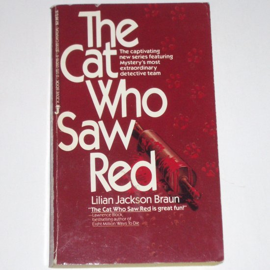 The Cat Who Saw Red by LILIAN JACKSON BRAUN Cozy Mystery 1986