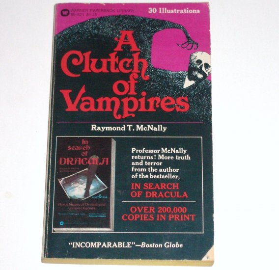 A Clutch of Vampire by RAYMOND T McNALLY Illustrated Horror 1975