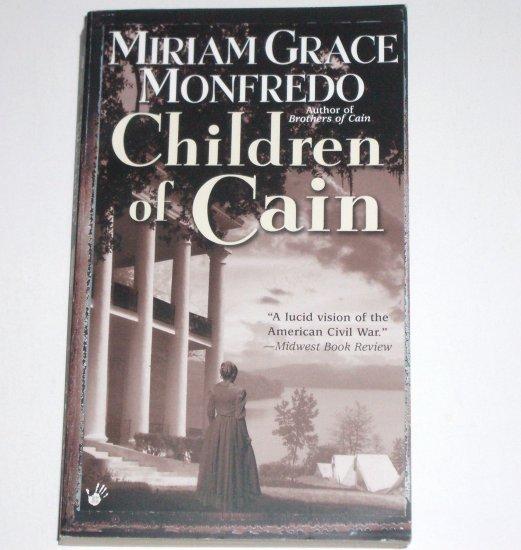 Children of Cain by MIRIAM GRACE MONFREDO Berkley Prime Crime Civil War Mystery 2003