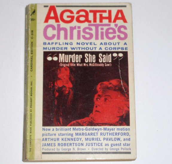 Murder She Said by AGATHA CHRISTIE A Jane Marple Mystery 1962