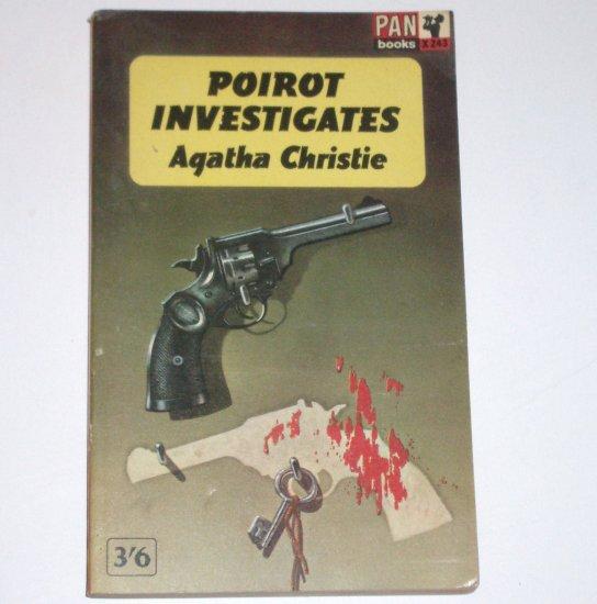 Poirot Investigates by AGATHA CHRISTIE Import Pan 1964 Hercule Poirot Mystery