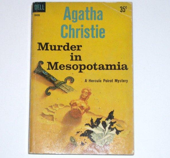 Murder in Mesopotamia by AGATHA CHRISTIE A Hercule Poirot Mystery Dell 1961