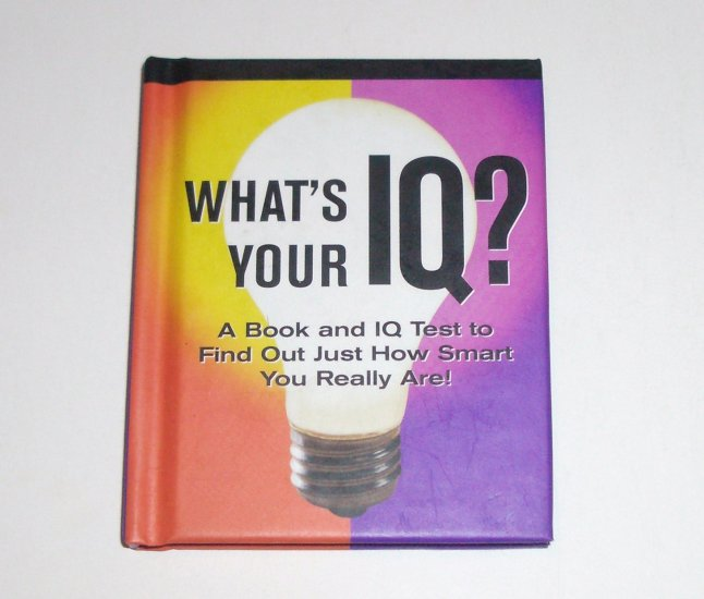 What's Your IQ? by JANET TERBAN MORRIS Petites Plus Hardcover 2003 Book & IQ Test
