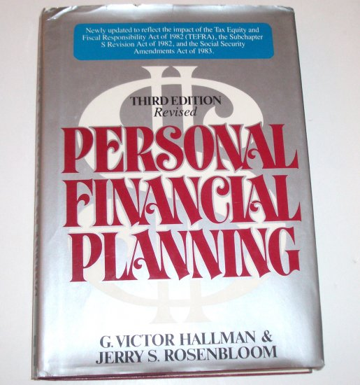 Personal Financial Planning by G VICTOR HALLMAN & ROSENBLOOM 1976 3rd Edition