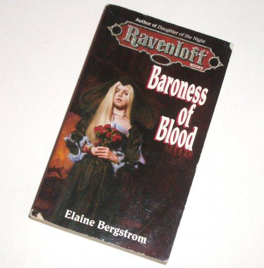Baroness of Blood by ELAINE BERGSTROM Horror Fantasy 1995 Ravenloft Series