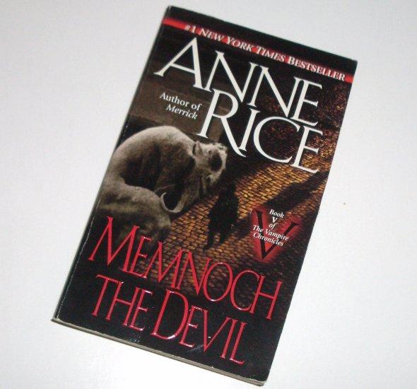 Memnoch The Devil by ANNE RICE Horror 1997 Vampire Chronicles Series