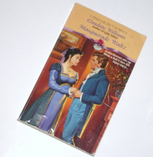 Masquerade Waltz by CLAUDETTE WILLIAMS Zebra Historical Regency Romance 1995