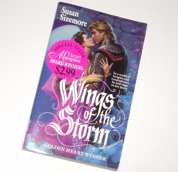 Wings of the Storm by SUSAN SIZEMORE Paranormal Medieval Time Travel Romance 1994