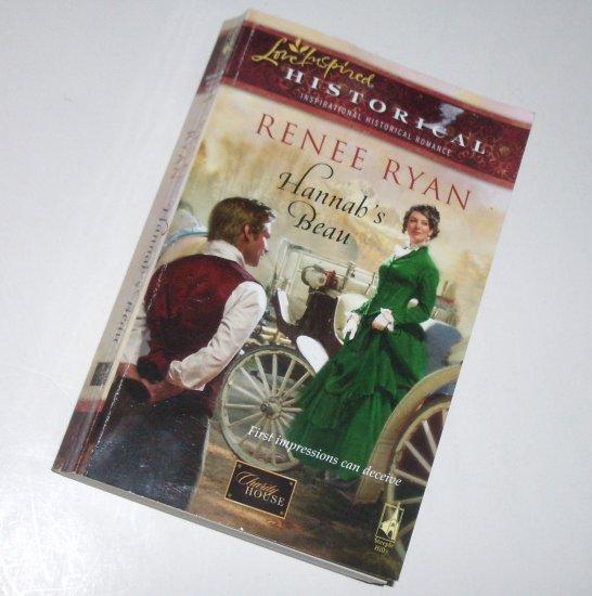 Hannah's Beau by RENEE RYAN Love Inspired Historical Christian Romance 2009