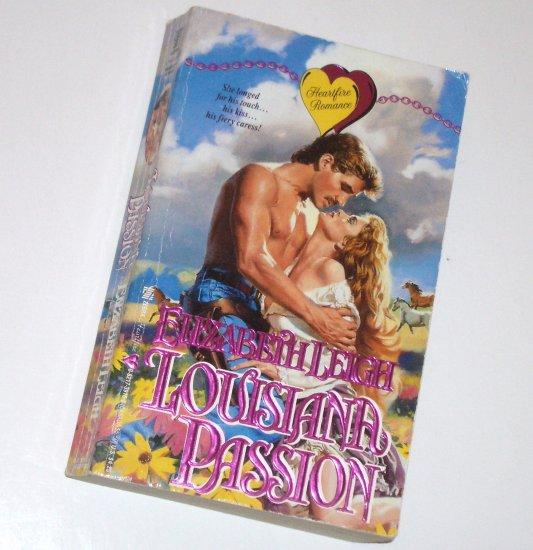 Louisiana Passion ELIZABETH LEIGH Zebra Historical Western Romance 1992 Jennings Louisiana Series