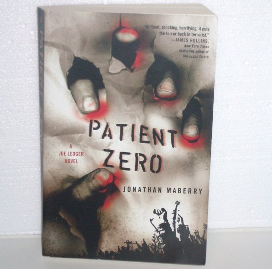 Patient Zero by JONATHAN MABERRY Trade Size A Joe Ledger Suspense Thriller 2009 Signed