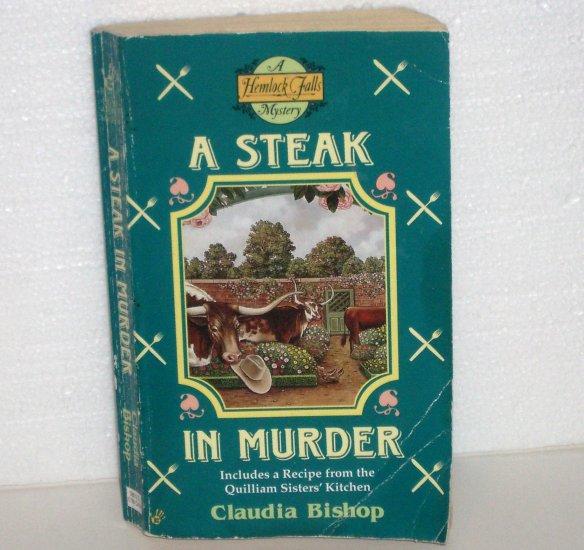 A Steak in Murder by CLAUDIA BISHOP A Hemlock Falls Mystery 1999 Berkley Prime Crime