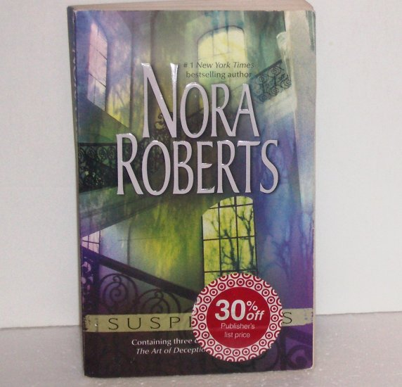 Suspicious by Nora Roberts 3-in-1 Romance 2003 Partners/Art of Deception/Night Moves