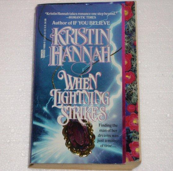 When Lightning Strikes by KRISTIN HANNAH Paranormal Western Time Travel Romance 1994