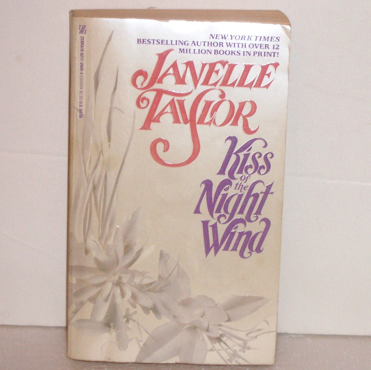Kiss of the Night Wind by Janelle Taylor Historical Western Romance 1989