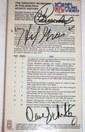 Harold Carmichael, Hal Greer & Dave Schultz Autographs on Greatest Moments in Philly Sports VHS
