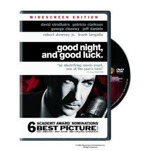 Good Night, and Good Luck DVD George Clooney David Strathairn, Robert Downey Jr.