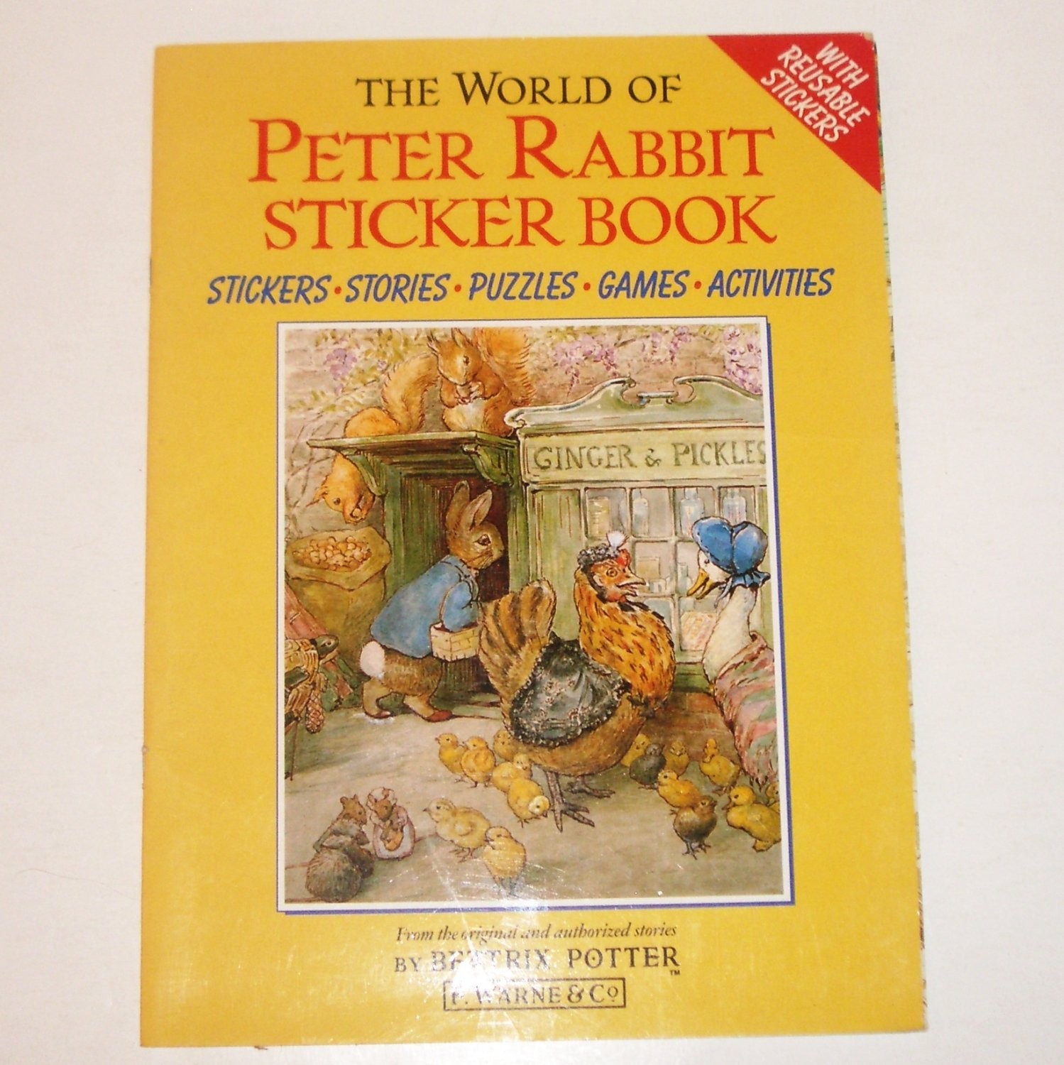 The World of Peter Rabbit Sticker Book by Beatrix Potter 1990