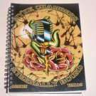 MYKE CHAMBERS Eternally Bound Tattoo Sketchbook SIGNED Austin Texas TX Spiral