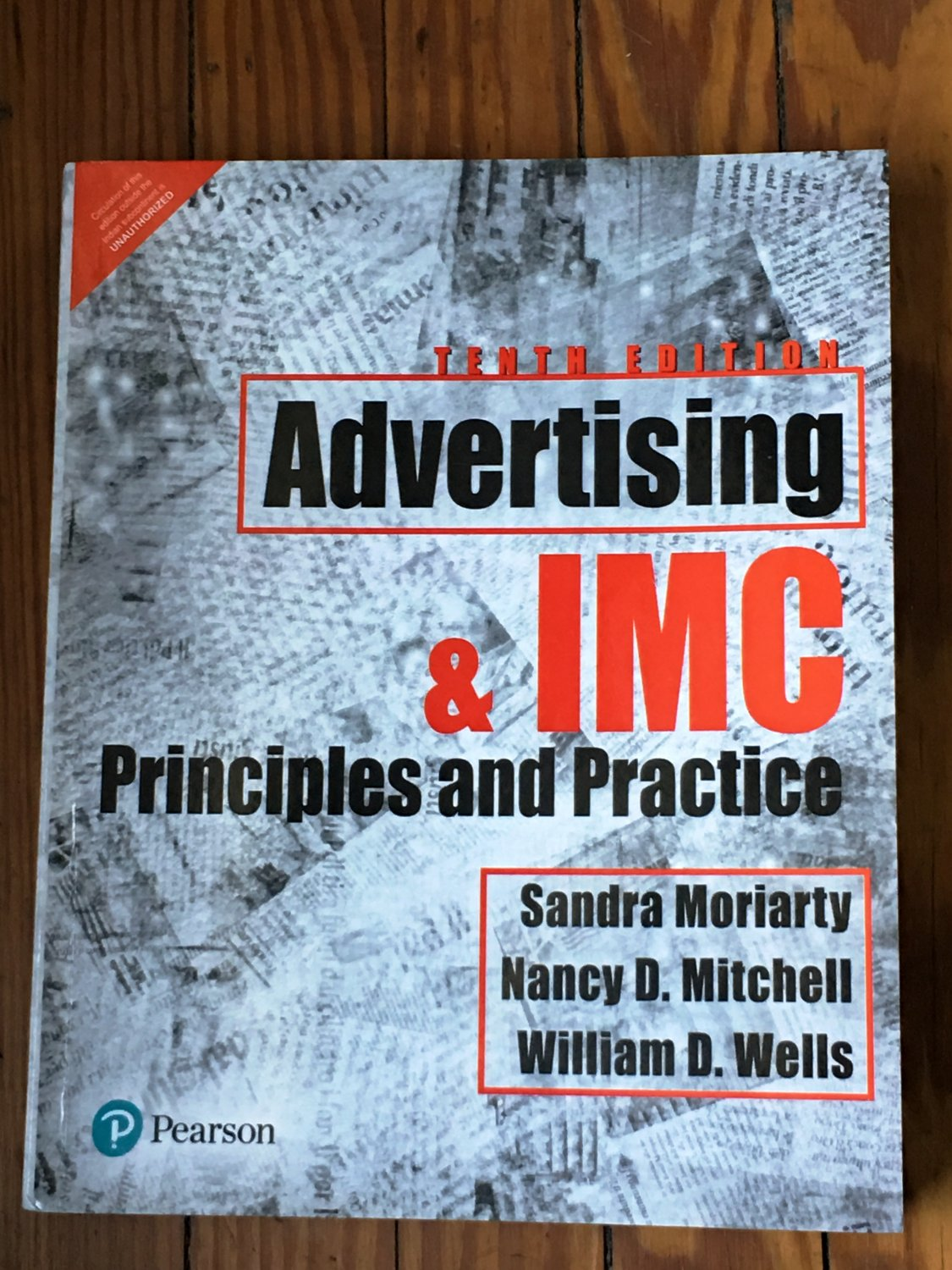 Advertising & IMC: Principles and Practice, 10th Edition by Sandra Moriarty, Nancy Mitchell
