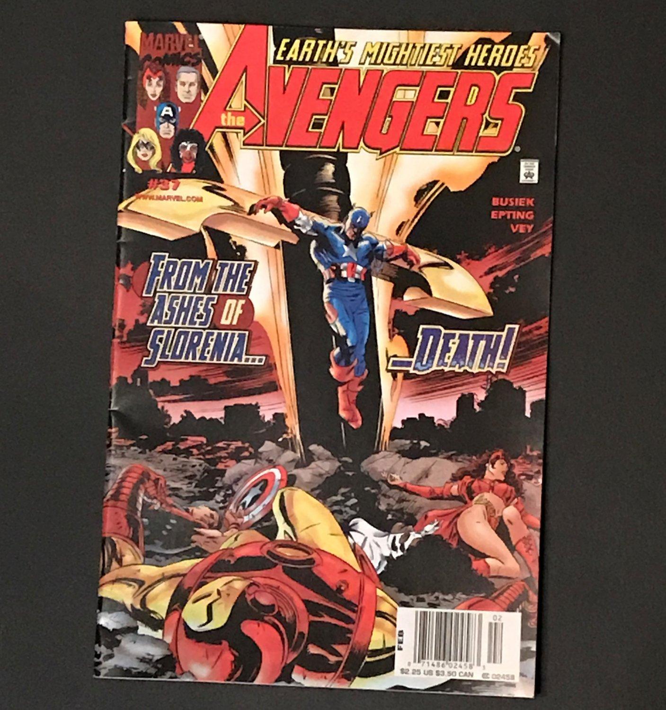 Marvel Comics Avengers #37 Feb 2001 From the Ashes of Slorenia