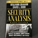 Security Analysis: Principles and Techniques by Benjamin Graham, David L. Dodd 2009 6th Ed