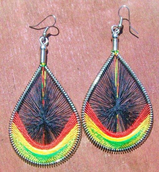 Rasta Web Earrings