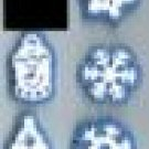 8 Snowflakes snowman Stamp Holiday  chunky snow