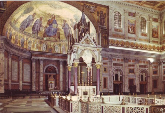 Postcard PC Italy Rome Roma  St Paolo Basilica