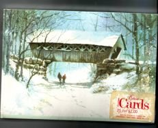 Cover Bridge winter snow new 25 christmas Postcards New