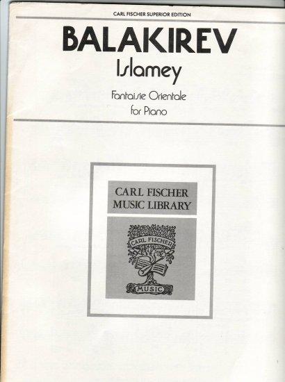 M.Balakirev's Islamey - Oriental Fantasy for Piano Sheet Music