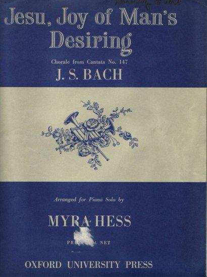 Jesu joy of man's desiring Myra Hess SHeet music