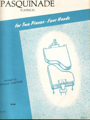Pasquinade caprice  sheet music for two Pianos- four hands