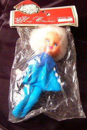 Vintage Knee Hugger Christmas Elf Ornament New