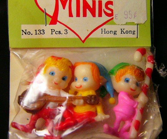VintageMinature Christmas elves elf 3New