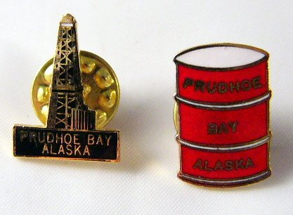 Oil Country Alaska Pin Prudhoe Bay Lot of 2 pins free ship