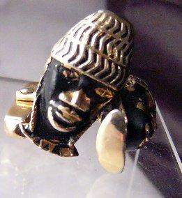 Swank African Cufflinks cuff links  TLC Vintage