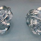 all knotted up Vintage Coro  Clip  Earrings silvertone metal ribbon