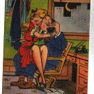 Vintage  Faber art comic Postcard Risqué pc	Ofice Wife