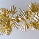Pineapple Goldtone Belt Buckle Mimi Di N Signed vintage