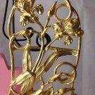 Goldtone Iris Belt buckle openwork floral