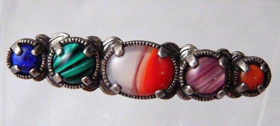 Miracle Bar Brooch Pin Multi  Color #405