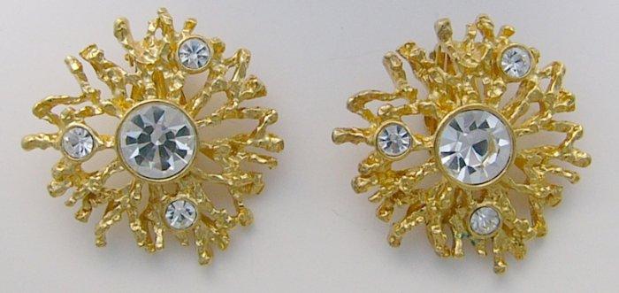 KJL  Avon Regal Riches Rhinestone Glitzy Earrings