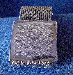 Vintage Swank Silvertone Mesh Chunky  Cufflinks cuff links