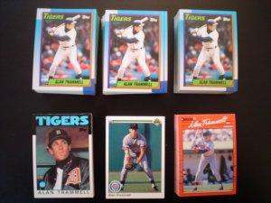 Alan Trammell Detroit Tigers Baseball Cards - ** FREE SHIPPING **