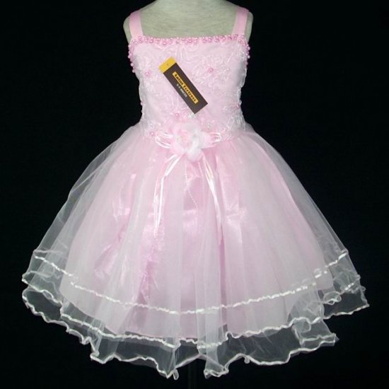 New with tags Girls Wedding/Pageant dress Sz 4-5 Pink Dressy occasion