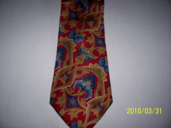 AUTHENTIC STYLISH Men Tie 100% SILK ITALY NEW  Floral