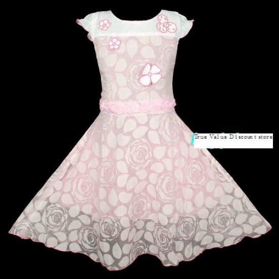 Brand New with Tag Beautiful girl dress for Special Occasion Floral Size 7-8
