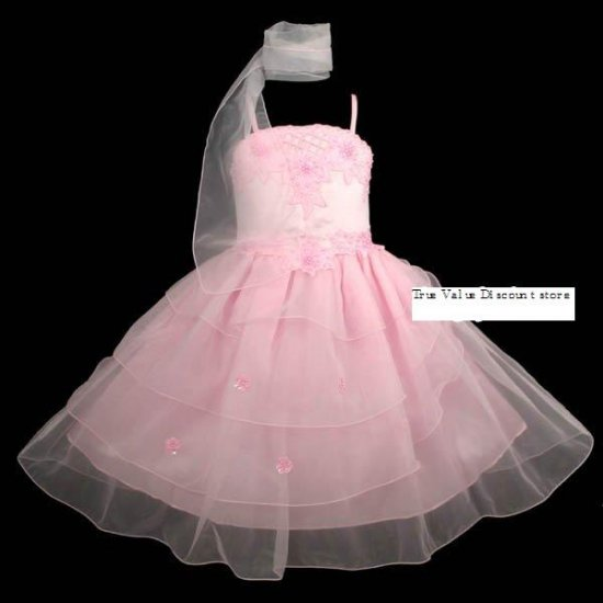 Brand New with Tag Beautiful Pageant  girl dress Pink Size 8/9 dressy occasion